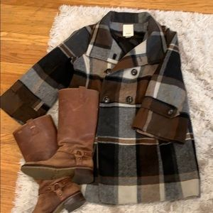Brown Plaid coat from Anthropologie